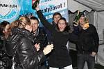 Příchod nového roku slavili Zlíňané například na lyžařském svahu nad Domem umění.