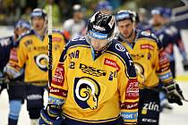 Zlínští hokejisté (ve žlutých dresech). Ilustrační foto