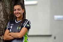 Házenkářka Adriana Zpěváková vládne klubovým statistikám a je nejlepším střelkyním Jiskry Otrokovice.