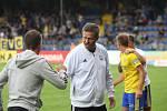 Fotbalisté Zlína (ve žlutých dresech) ve 3. kole FORTUNA:LIGY zdolali liberecký Slovan 2:1.