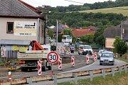 Oprava křižovatky v Bohuslavicích.