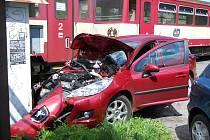 Nehoda na přejezdu ve zlínské ulici Santražiny