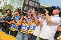 Start Barum Czech Rally Zlín na náměstí Míru ve Zlíně. Ilustrační foto