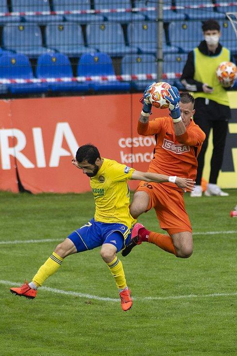 Zlín - Zápas skupiny o záchranu FORTUNA:LIGY mezi FC Fastav Zlín a SFC Opava. Vilém Fendrich (SFC Opava).