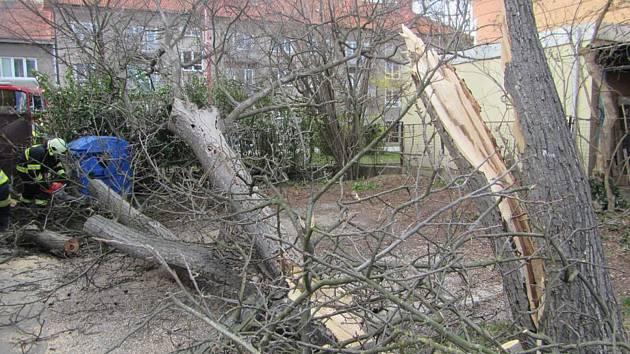 Řádění silného větru ve Zlínském kraji - 23. 3. 2020