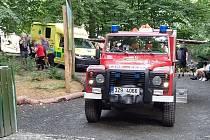 Hasiči a záchranná služba zasahují u zraněné návštěvnice v lanovém centru ve zlínské zoo