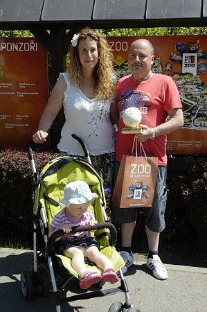 Jubilejním 16000000.návštěvníkem ZOO Zlín se stala paní Lucie Trentinová zBrna společně se svým přítelem Jaroslavem a dvouletou dcerou Anetkou.