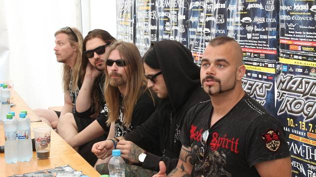 Masters of Rock tisková konference švédských Sabaton.