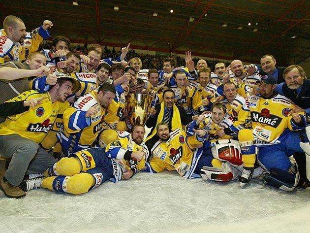 Hokejisté Zlína se v roce 2004 stali mistry české extraligy pod vedením kouče Erneta Bokroše.