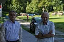 Úspěšní ligoví dorostenci Slavičína prožili svá nejslavnější léta v 70. letech minulého století. Na snímku Ignác Matějovič a Zdeněk Rumplík starší.
