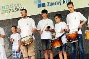 58. ZLÍN FILM FESTIVAL 2018 - Mezinárodní festival pro děti a mládež. ZUŠ OPEN, park Komenského. Drumboon a Capoeira ZUŠ Zlín