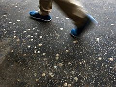 Odhozené a do chodníku zašlapané žvýkačky