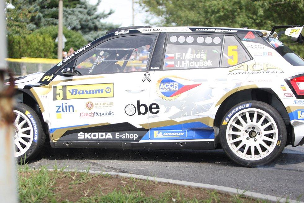 V rámci 49. ročníku Barum Czech Rally Zlín absolvovali v sobotu dopoledne jezdci rychlostní zkoušku Březová. Na snímku Filip Mareš