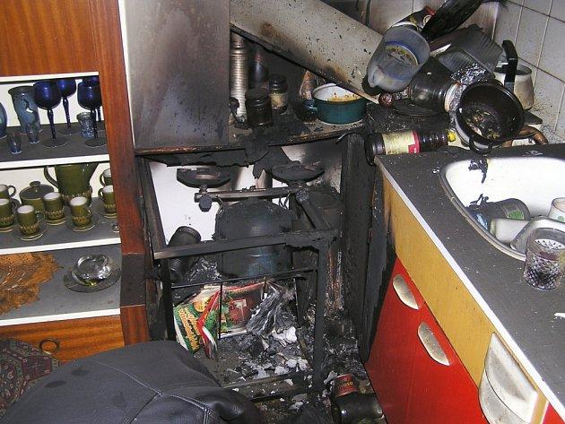 HOŘELO V KUCHYNI. Zřejmě nedbalost nebo technická závada na  zařízení domácnosti způsobila malý požár, při němž zahynul starší muž ze Zlína