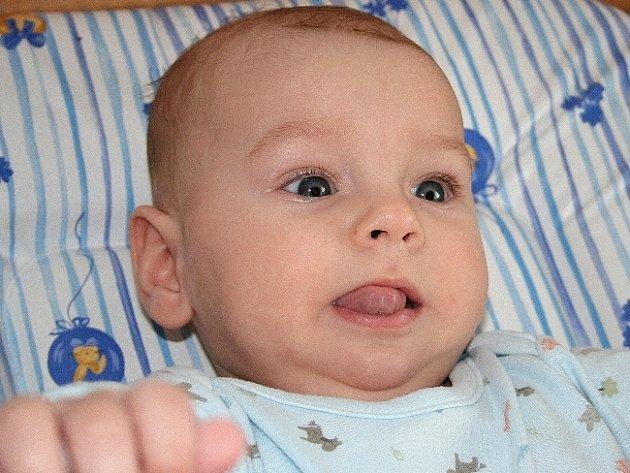 Michael Drga, 24. 5. 2007, porodní míry: 3,78 kg, 51 cm, Malenovice