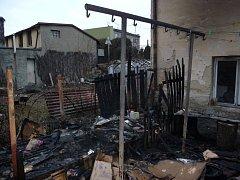 Požár dřevníku v Bystřici pod Hostýnem