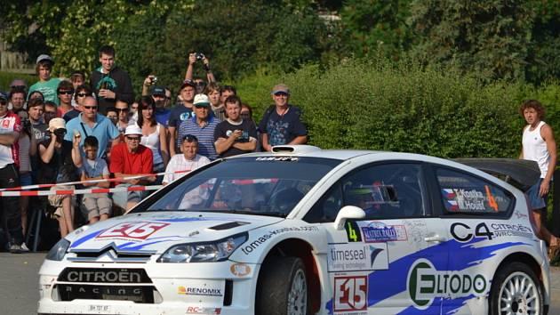 Tomáš Kostka na trati Rally Kostelec