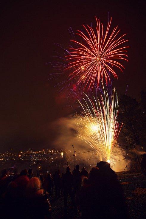 Silvestrovské oslavy na Svahu ve Zlíně