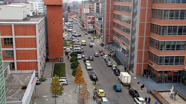 Ulice Jana Antonína Baťi v továrním areálu ve Zlíně.