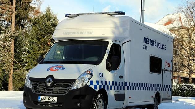 Mobilní služebna Městské policie Zlín.