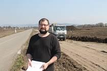 Olomoucký archeolog Jakub Vrána v akci - u Pravčic