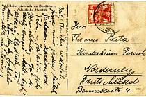 Unikátní pohlednice Baťovy rodiny.