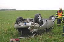 Vážná dopravní nehoda u Valašských Klobouk.