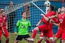 Fotbalové utkání mezi SFK Vrchovina Nové Město na Moravě a FC Viktoria Otrokovice. Ilustrační foto