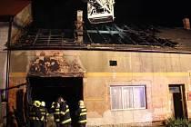 Požár v rodinném domě v Tlumačově