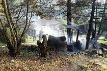 Požár přístřešku v Lukovečku na Zlínsku