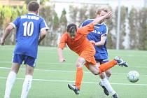 Fotbalisté Pasek (v modrém). Ilustrační foto
