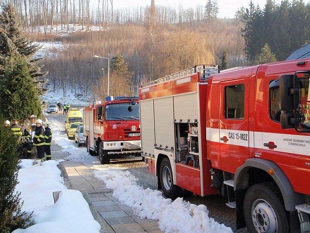 Tragický požár v jednom z bytů domu v Luhačovicích