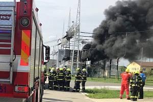 Požár trafostanice v Otrokovicích
