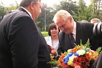 V pondělí 22. září 2014 přijel opět po roce do Zlínského kraje prezident republiky Miloš Zeman.