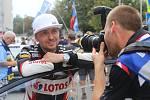 Cíl a vyhlášení výsledků Barum Czech Rally Zlín 2017 na náměstí Míru ve Zlíně