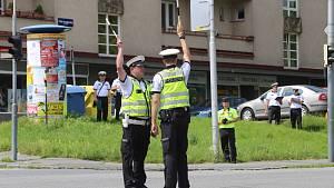 Krajské kolo soutěže dopravních policistů v řízení silničního provozu ve Zlíně