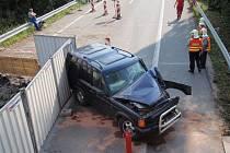 Terénní vozidlo zablokovalo hlavní tah u Napajedel