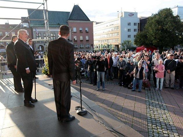 Setkání zlínských občanů s prezidentem Milošem Zemanem.