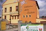 Žlutavu založil majitel napajedelského panství Jan Rotal. Dominantou obce je kostel, který byl zasvěcen svatému Cyrilu a Metodějovi.