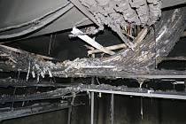 Požár zničil blok rozvodových skříní