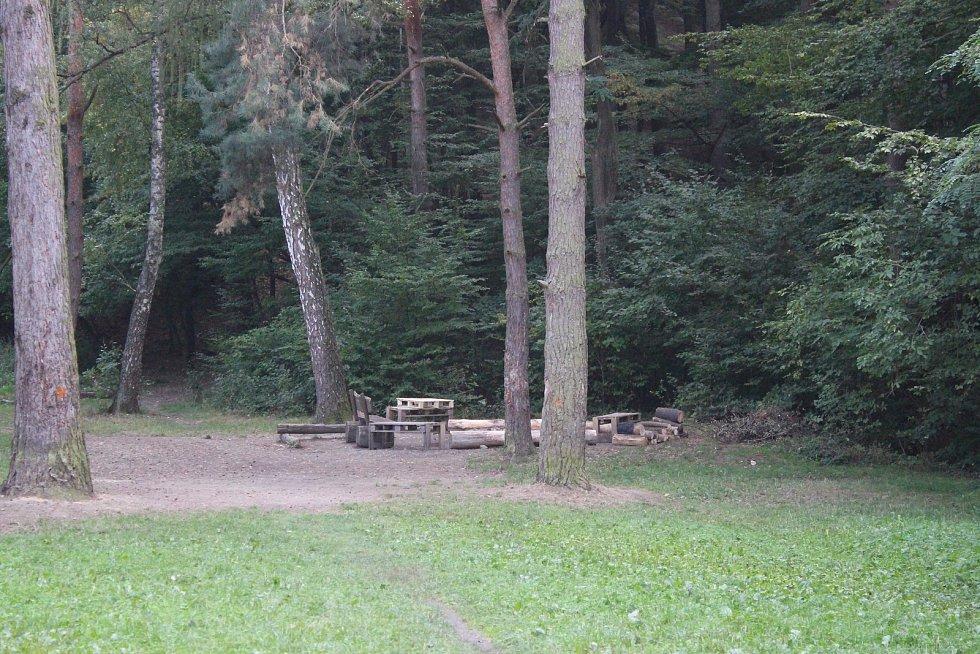 Místo na zlínských Lazech, kde se také uprchlík ukrýval.