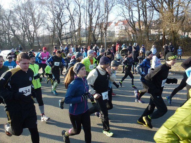 Silvestrovského běhu ve Zlíně 31. prosince 2016.