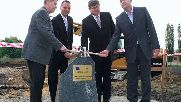 Položení základního kamene nového sportoviště, Baťov, Otrokovice