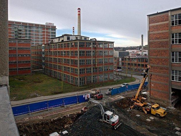 Rekonstrukce budov číslo 14 a 15 ve svitovském areálu. Ilustrační foto
