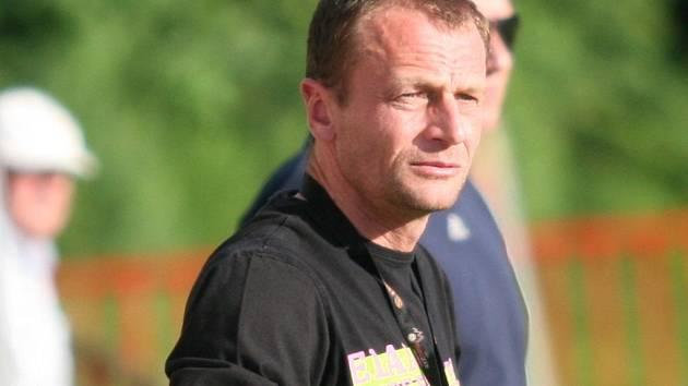 Končící kouč divizních fotbalistů Viktorie Otrokovice Marek Sedlák.