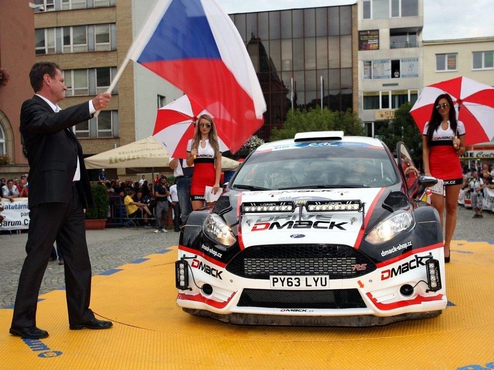Barum Czech Rally Zlín 2014. Start na náměstí Míru ve Zlíně