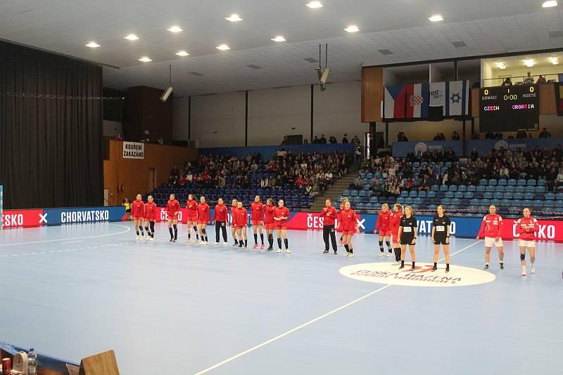 Kvalifikační utkání o postup na ME 2022 házenkářek Česko - Chorvatsko ve Zlíně.