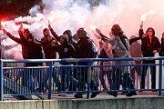 Fanoušci při utkání FC  FASTAV Zlín -1: FC Slovácko