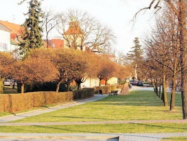 Náměstí v centru Otrokovic