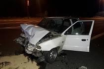 Následky nehody v Lípě nad Dřevnicí